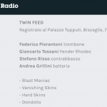 Ascolta Twin Feed a Battiti - Radio3