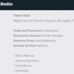 Ascolta Twin Feed a Battiti - Radio3